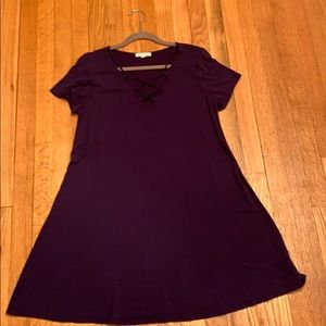 Socialite Large Navy Blue Casual Dress